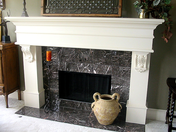 Lovely Fireplace Corbels Supporting Old Beam Fireplace Mantel